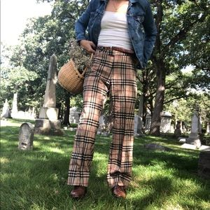 BURBERRY PLAID TROUSERS